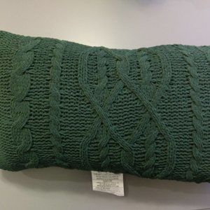Threshold Cable Knit Throw Toss Pillow Green Decor